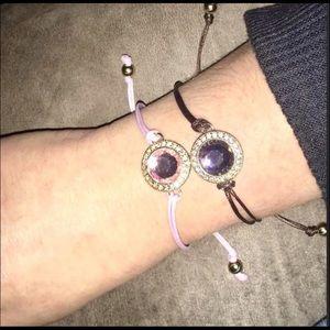 Avon two bracelets adjustable pink & brown NWOT